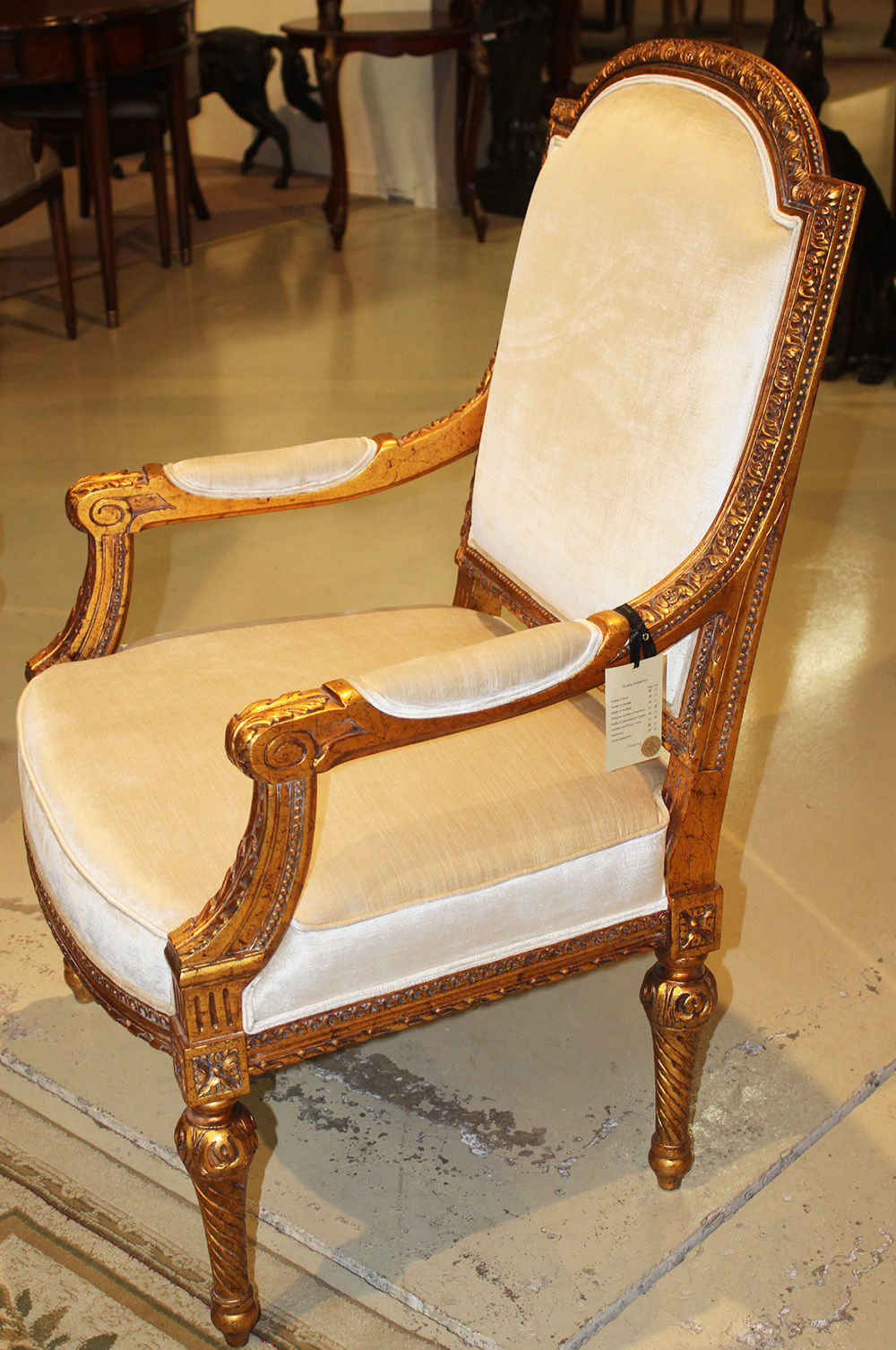 Antique louis xvi chair - Pair Large Scale Gold Gilded Carved French Louis Xvi Arm Chairs Fauteuil