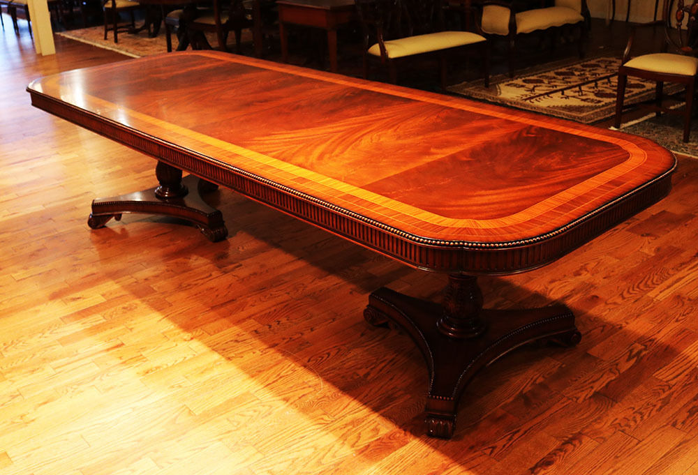 best ever flame mahogany fluted satinwood banded dining table regency mint wow